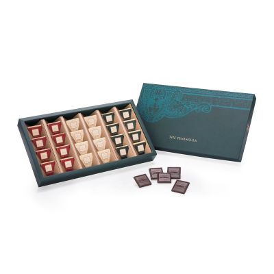 Assorted Dark Chocolate Carres - 24 pieces