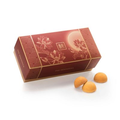 Golden Lotus Seed Paste Cookies with Yolk – 8 pieces