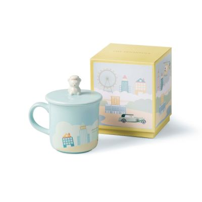 Travelling Page Bear Mug ‒ Blue