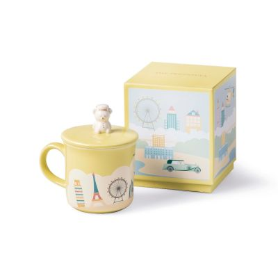 Travelling Page Bear Mug ‒ Yellow